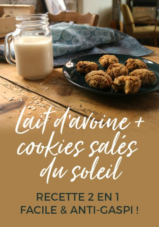 Recette 2 en 1 : Lait d'avoine et cookies salés su soleil