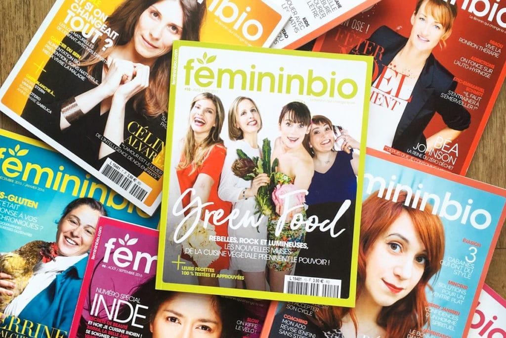 Couvertures du magazine Femininbio