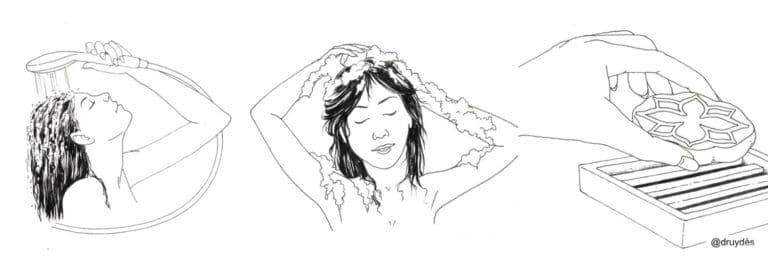 Tuto d'utilisation des shampoings solides naturels Druydès