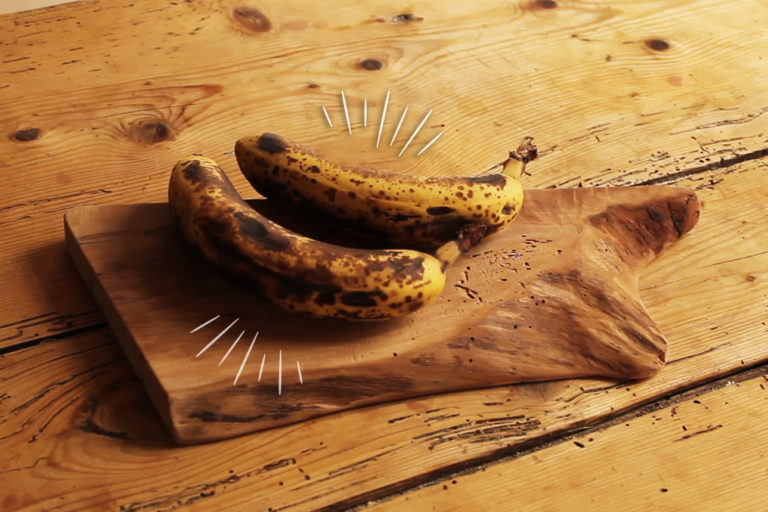 La base des Nice cream : la banane