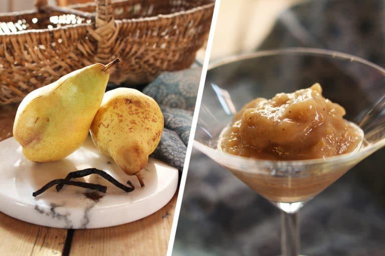 Nice cream : glace vegan banane poire vanille