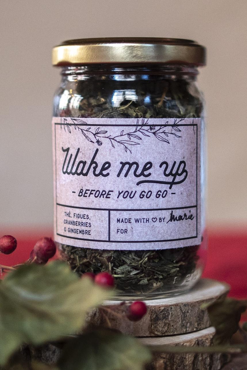 Mélange de thé maison gingembre, cranberries et figue