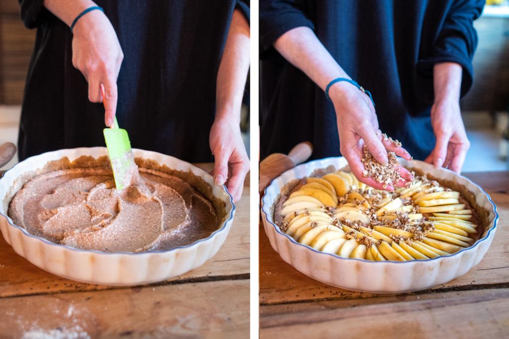 Délicieuse tarte pomme-poire amande et cannelle